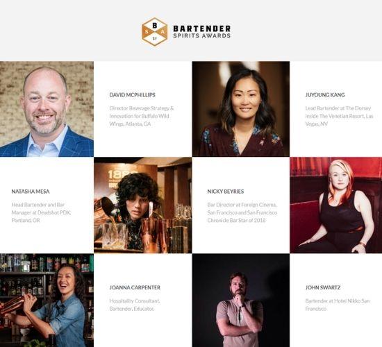 Bartender Spirits Awards Judges