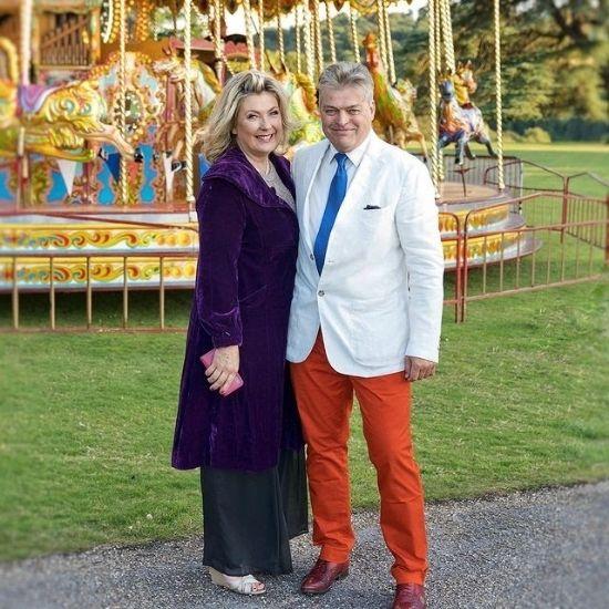 Lord and Lady Carnarvon. Via @highclerecastlegin