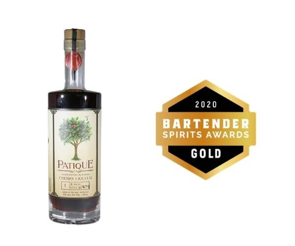 Patique Cherry Liqueur winner at 2020 bartender spirits awards