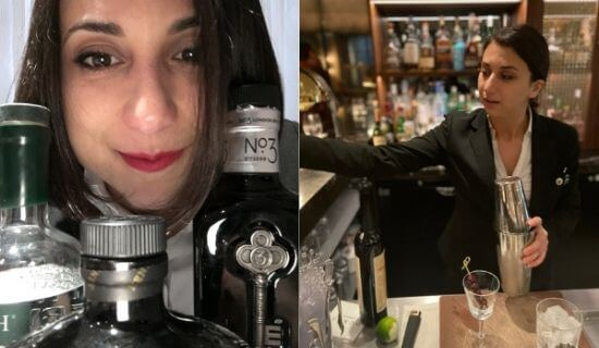 Mariantonoietta Varamo at her bar