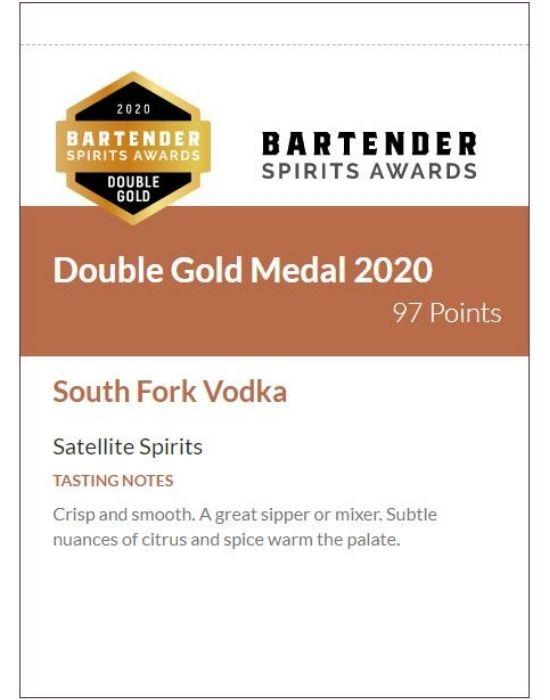 South Fork Vodka Shelf Talker