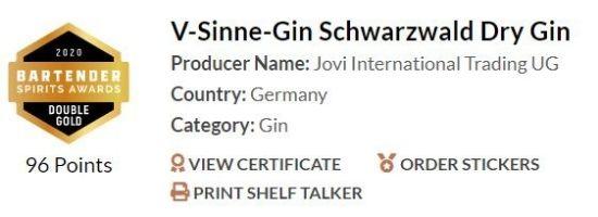 V-Sinne-Gin Schwarzwald Dry Gin