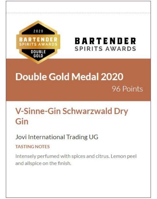 V-Sinne-Gin Schwarzwald Dry Gin Shelf Talker