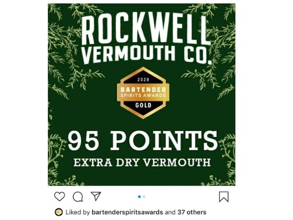 Extra Dry Vermouth, Classic Sweet Vermouth scored 95 points, making it the top awarded Vermouth at the 2020 Bartenders Spirits Awards