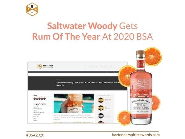 Saltwater Woody won Rum Of The Year At 2020 Bartender Spirits Awards