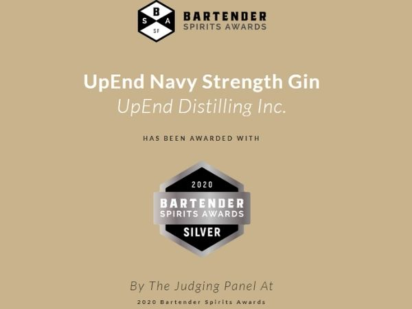 Silver medal winner at the 2020 Bartenders Spirits Awards.