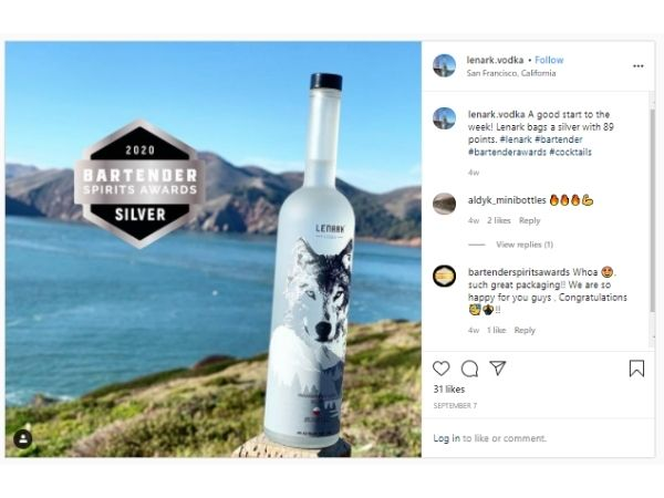 Lenark Vodka Insta gram