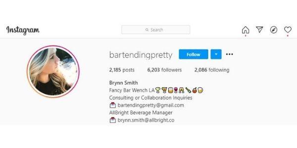 Brynn Smith @bartendingpretty