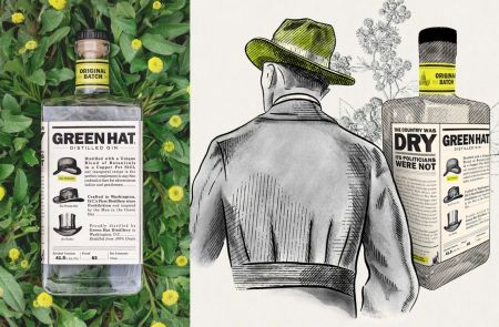 Photo for: Green Hat Gin Citrus Floral Wins Best Package Of The Year